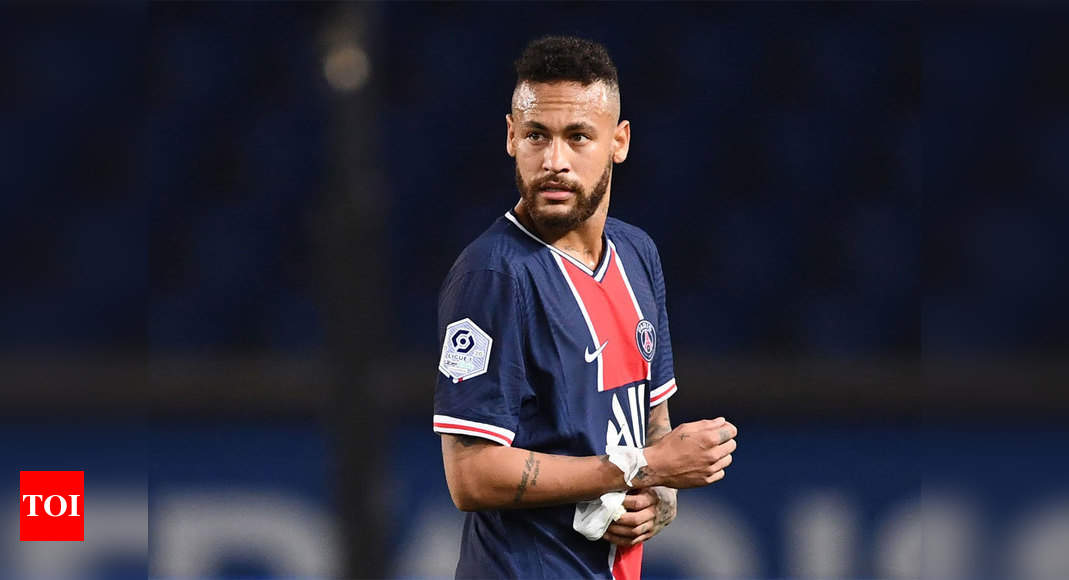Psg Stand By Neymar After Marseille Red Card Football News Times Of India