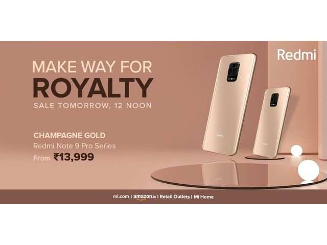 Xiaomi announces Champagne Gold colour variant of Redmi Note 9 Pro series phones; to go on sale at 12pm today via Amazon