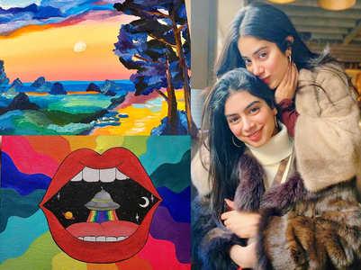 Janhvi-Khushi Kapoor's 1st painting unveiled