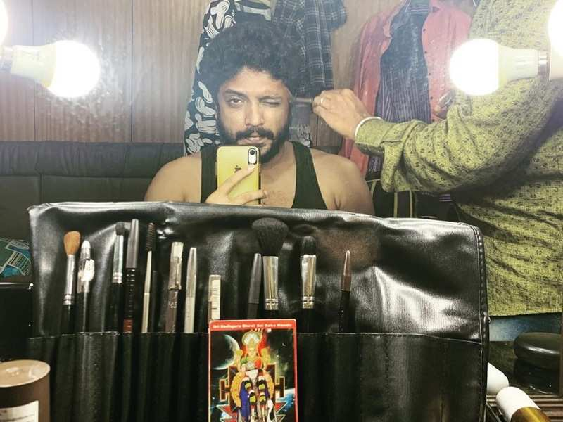 Vasishta N Simha shares a picture from the sets of his debut Telugu film