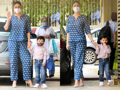 Kareena Kapoor Khan's blue co-ord set is perfect for early pregnancy days