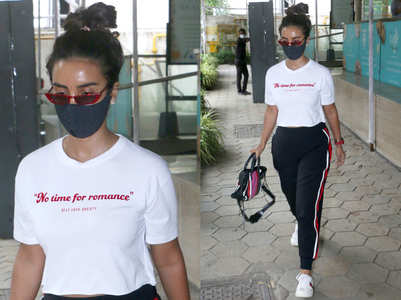 Patralekhaa has no time for romance, her t-shirt says so!
