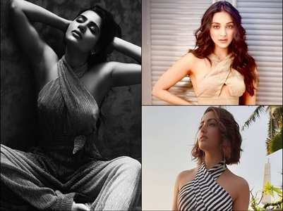Divas exude glamour in halter-neck dresses