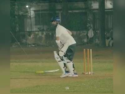 Video of Shahid Kapoor practising cricket