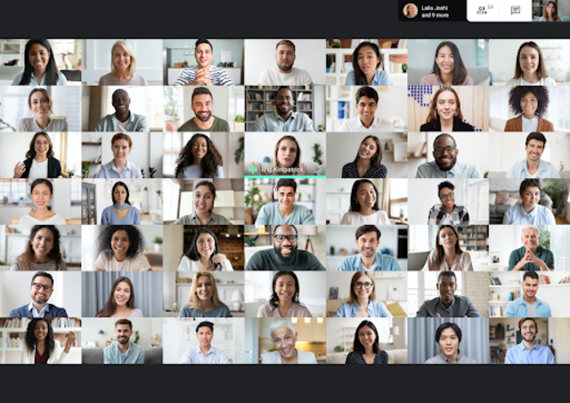 Google Meet gets support for background blur and 49 people view on desktop
