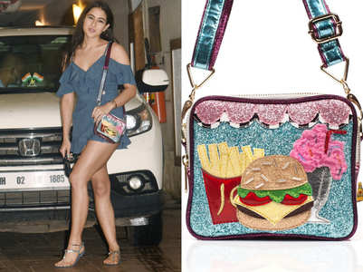 Sara Ali Khan's glittery shoulder bag is the hottest accessory of the season