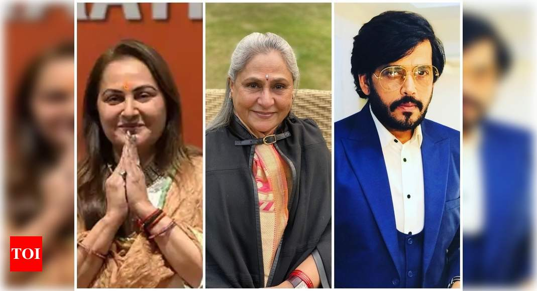 BJP MP Jaya Prada supports Ravi Kishan; says 'I think Jaya Bachchan ji is doing politics over the issue' - Times of India