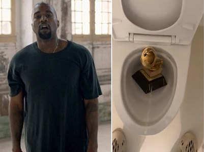 Kanye posts video of urinating on Grammy