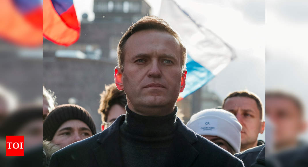 Navalny team says Novichok was found on water bottle in hotel room - Times of India