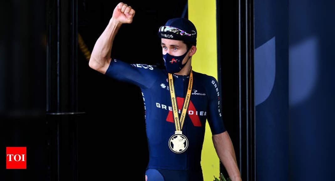 Kwiatkowski wins Tour de France 18th stage, Roglic retains yellow | More sports News – Times of India