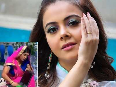 Devoleena reacts to Sunil's Topi bahu act
