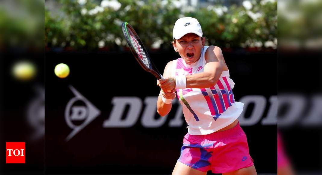 Halep extends her perfect record in tennis' restart to 7-0