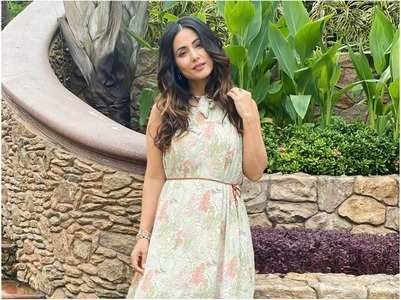 Hina Khan gets all floral for the weekend
