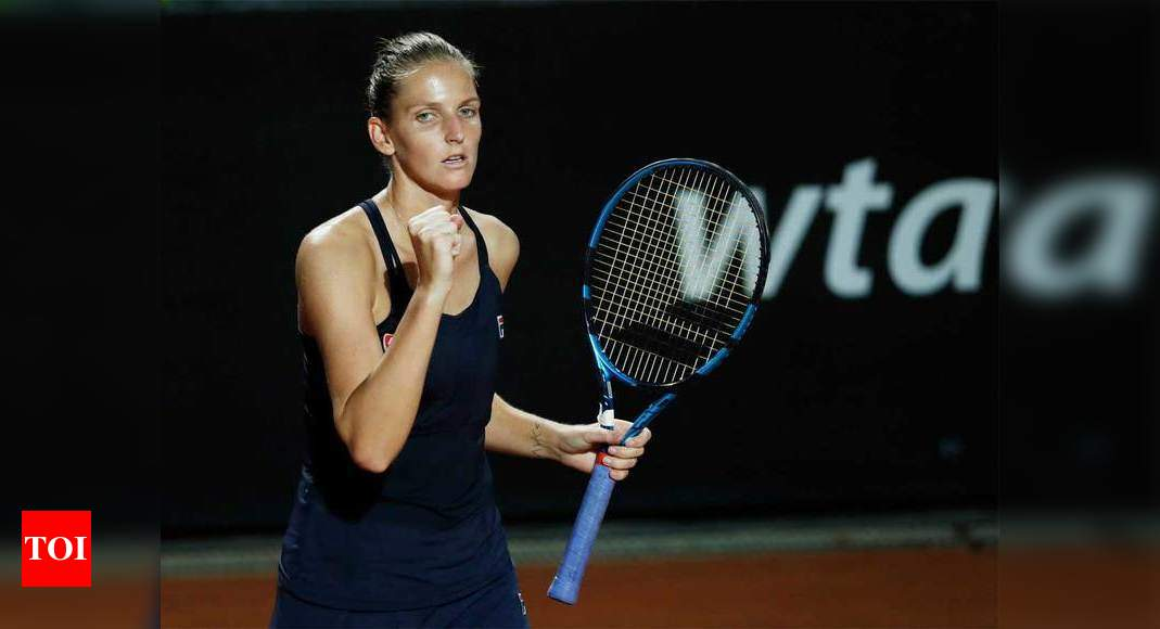 Defending champion Pliskova through to Rome semis