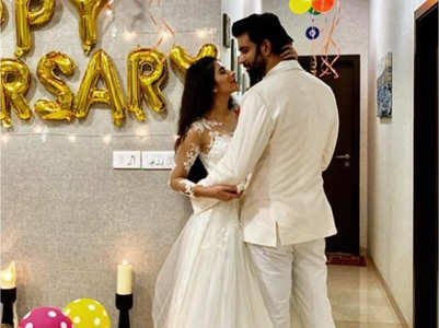 Charu, Rajeev celebrate their first anniv.