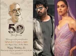Singeetham Srinivasa Rao is the mentor for Prabhas and Deepika Padukone's film