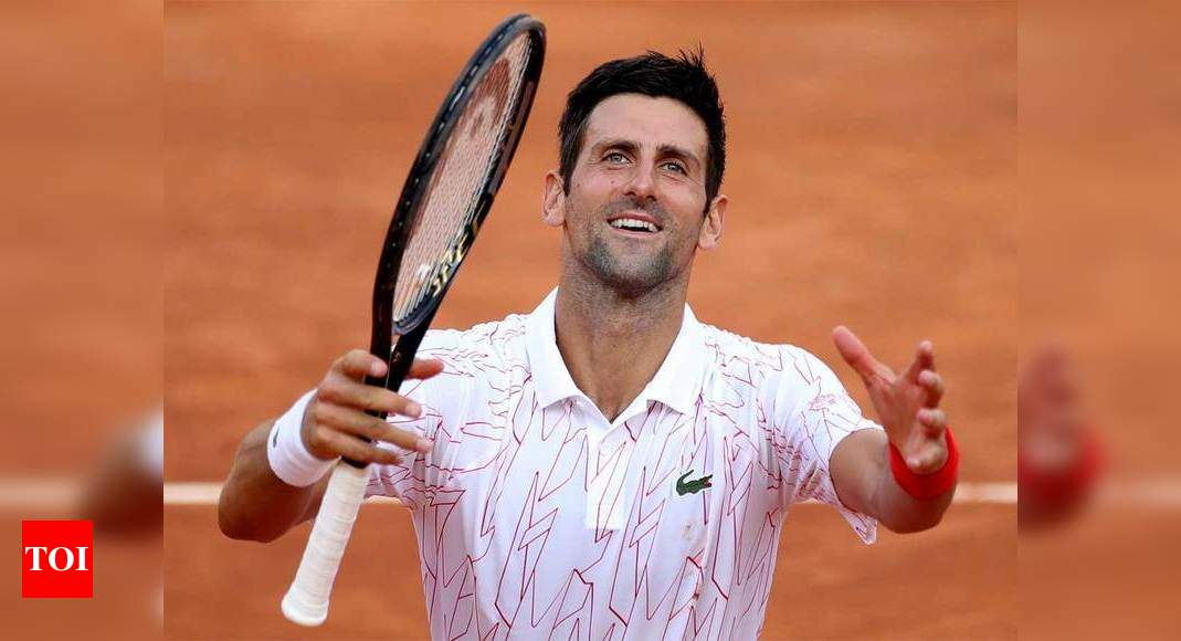 Novak Djokovic I Deserved It Djokovic Reacts To Obscenity Warning At Italian Open Tennis News Times Of India