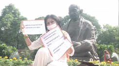 Drug abuse in Bollywood: Veteran actress and MP Rupa Ganguly stages protest in Parliament premises against malpractices