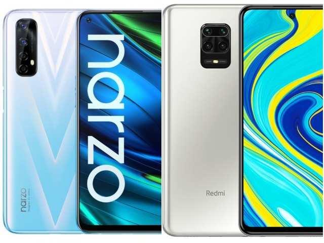Realme Narzo 20 Pro (left); Realme Narzo 20 Pro (right)