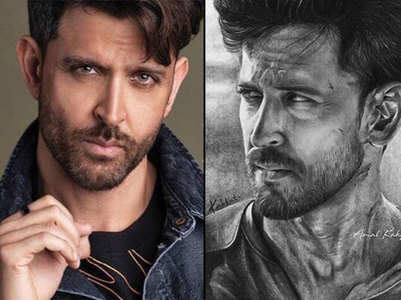 Hrithik blown away by fan's realistic sketch