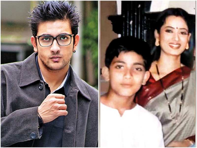 Fahmaan Khan; (right) a 2004 photograph shared by Shweta Tiwari on social media, shows her meeting a young Fahmaan