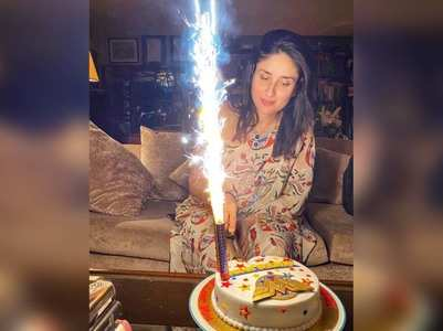 "Pic: Kareena cuts ""SuperMom"" cake on b' day"