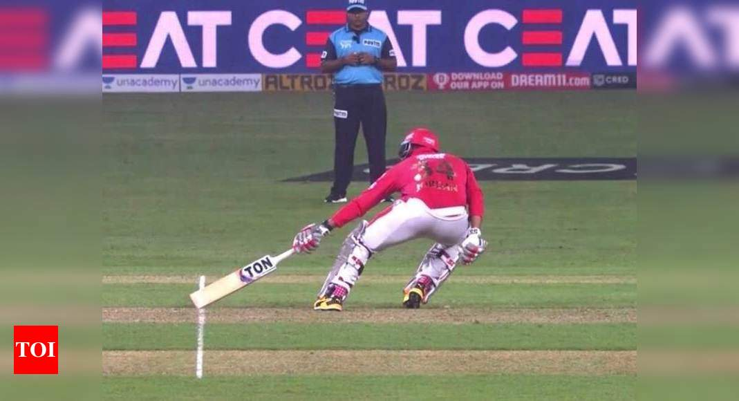 Short-run umpiring error borders on the bizarre
