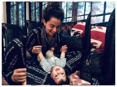 Kangana's cute pic with nephew is unmissable