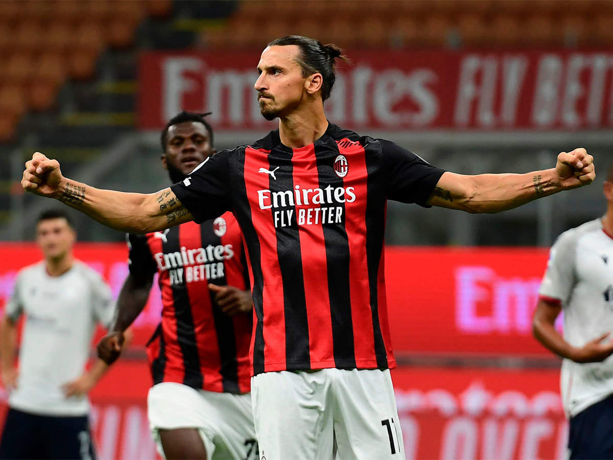 Zlatan Ibrahimovic Brace Gives Ac Milan Winning Start Football News Times Of India