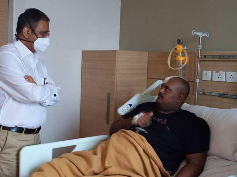 Naanum Rowdy Thaan Lokesh completes skull surgery successfully