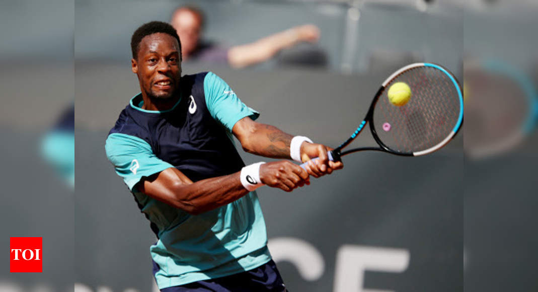 Monfils bows out in first round of Hamburg ATP event