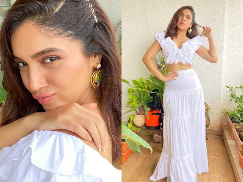 Bhumi Pednekar's white ruffled crop top and skirt look will transport you to Goa!