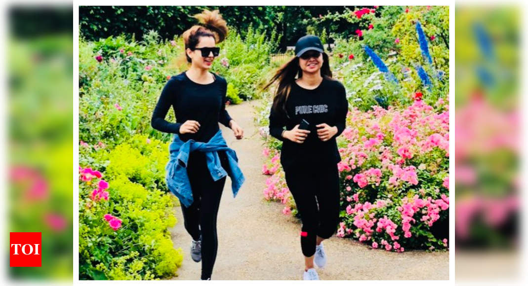 Kangana goes jogging early in the morning