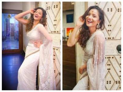 Pic: Ankita stuns in a gorgeous white saree