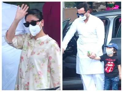 Bebo jets off to Delhi with Saif-Taimur