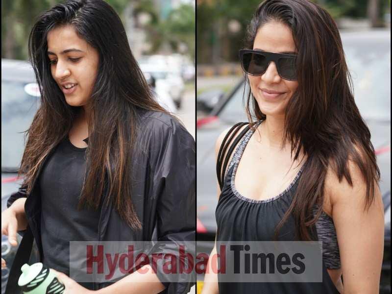 Spotted: Niharika Konidela and Lavanya Tripathi add pop colours to their gym looks