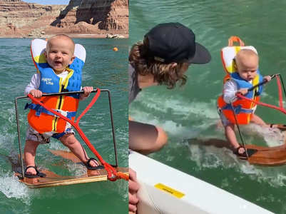 Virat alert: 6-month-old breaks record to become the youngest water skier, baffles internet