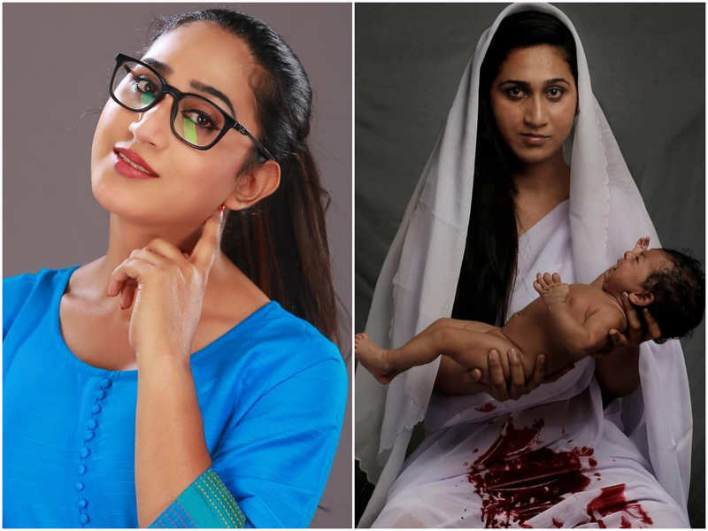 Bigg Boss fame Anjali Ameer stuns in her latest photoshoot which talks about embracing motherhood