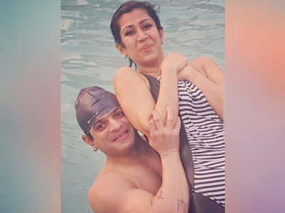 When Karan lifted wife Ankita in the pool