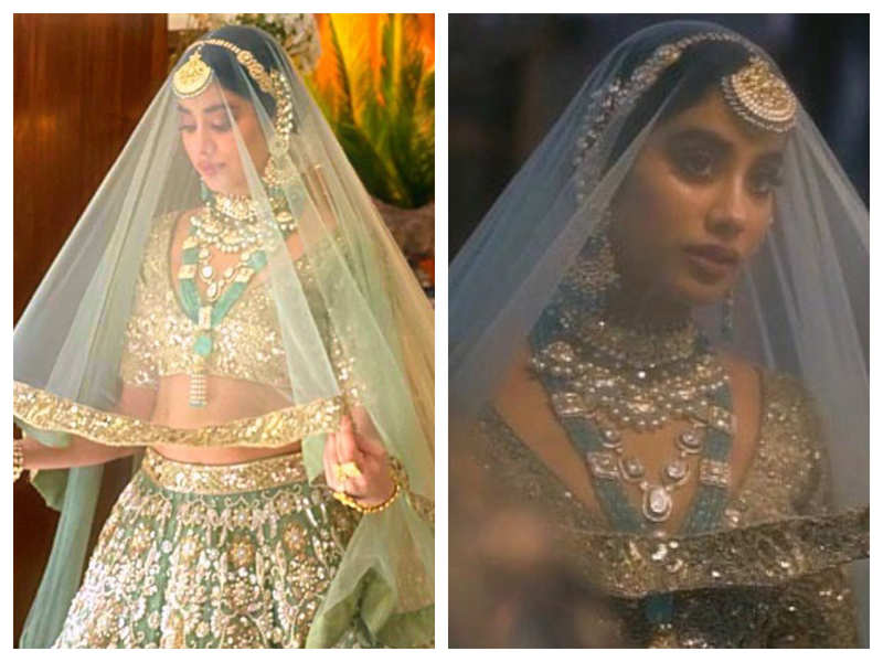 Janhvi Kapoor looks drop-dead gorgeous as she turns bride for designer Manish Malhotra's new collection