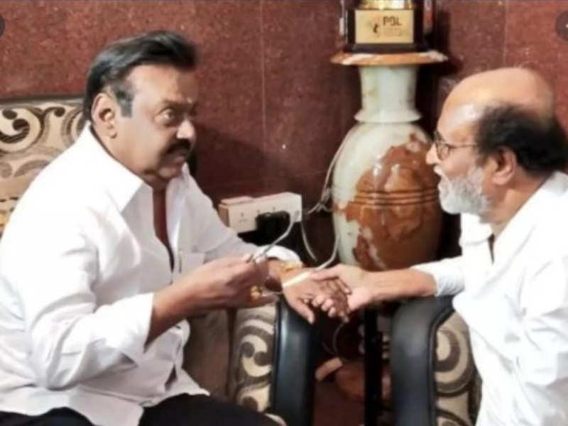 Rajinikanth enquires about Vijayakant's health