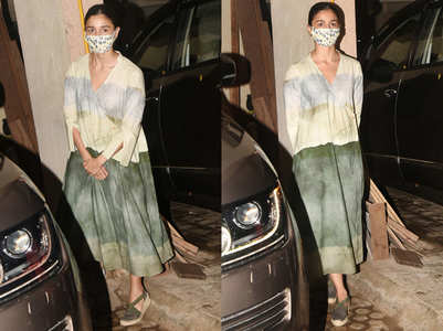 Alia Bhatt's earthy wrap dress is so soothing to the eyes