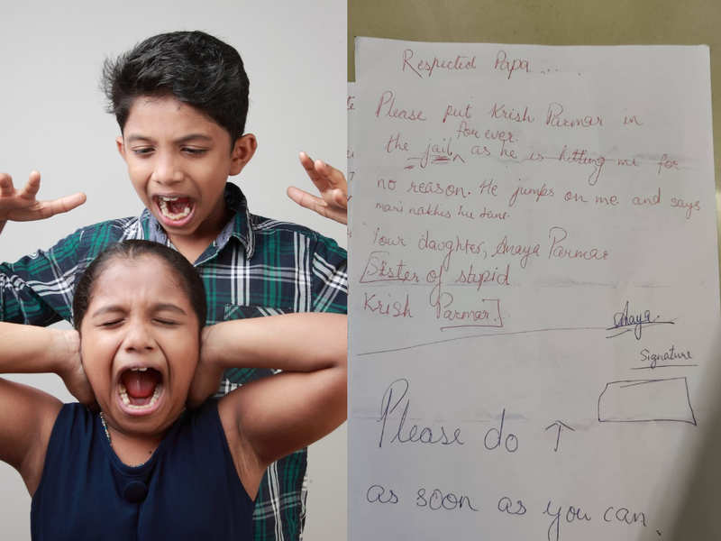 Adorable: Sister writes a letter to her dad, wanting to send his brother to 'forever jail'
