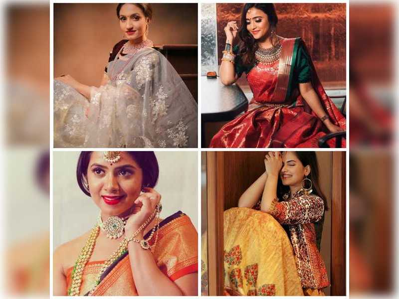 Kannada TV actresses make a statement in ethnic wear