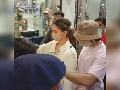 Watch: Deepika-Ranveer at Goa airport