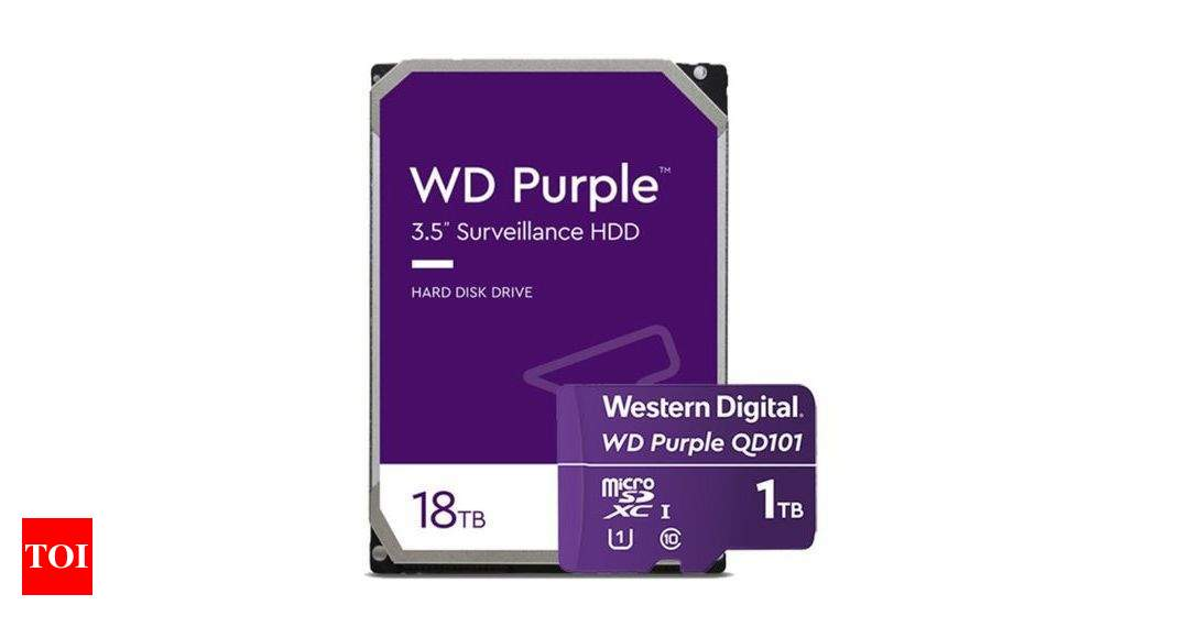 hard disk:  Western Digital launches 18TB hard disk and 1TB microSD card – Times of India