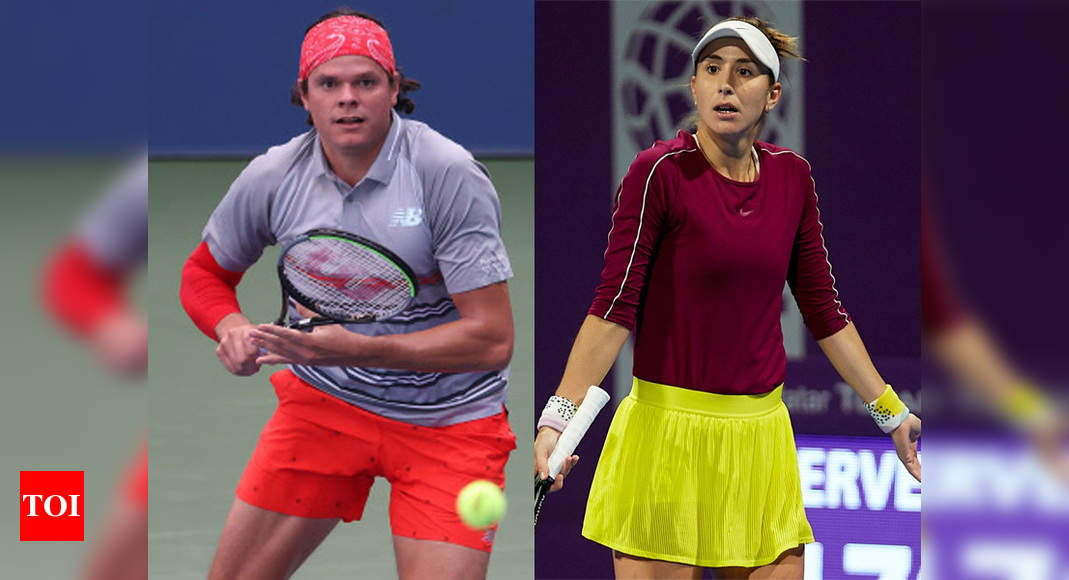 Milos Raonic, Belinda Bencic pull out of French Open | Tennis News – Times of India