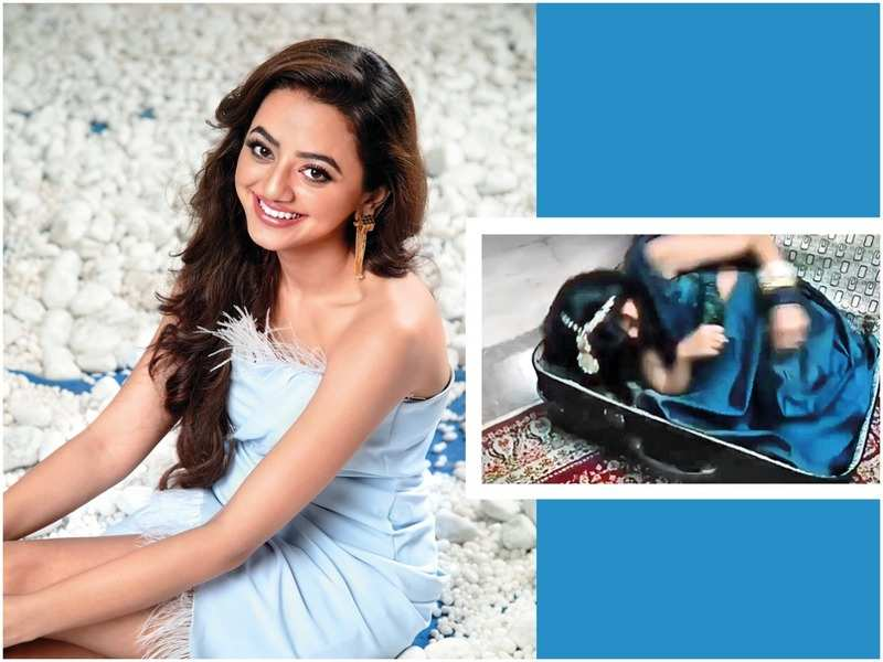Helly Shah and the suitcase scene from the show