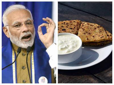 PM Narendra Modi eats drumstick paratha for immunity