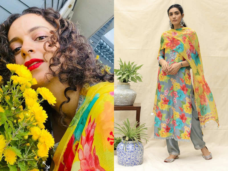 Kangana Ranaut just shared a glimpse of her floral salwar kameez and we want it right now